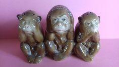 Three wise monkeys cruet set. Three Wise Monkeys, Salt And Pepper, Salt N Pepper, Salt N Pepa