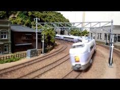 ▶ Nゲージ・鉄道模型 KATO E351系「スーパーあずさ」 - YouTube