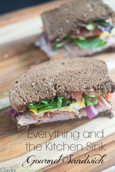 Tired of the same old sandwich? This easy, gourmet sandwich will definitely liven up your regular lunch routine. It's piled high with fresh ...