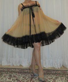 Vintage Lingerie, Women Lingerie, Plus Size Vintage, Plus Size Lingerie, Night Gown, Tulle, Ballet Skirt, Satin, Lace