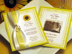 Sunflower WEDDING Seed Packet Favors  we can do by shadow090109, $3.99