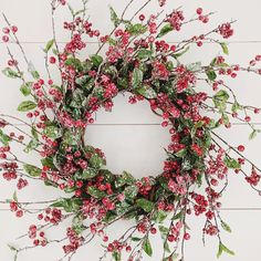 Christmas Wreath Berry Wreath Front Door Wreath Indoor Wreath Winter... (100 CAD) ❤ liked on Polyvore featuring home, home decor, holiday decorations, home & living, home décor, ornaments & accents, silver, red berry wreath, fall wreaths and easter wreath