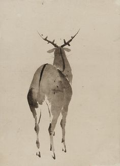 Katsushika Hokusai (1760-1849). Deer, Edo period. Ink on paper. Freer Sackler Museum of Asian Art, Smithsonian, Washington, D.C.
