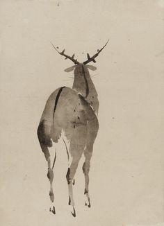 Deer, 1615-1868, Edo period – Katsushika Hokusai