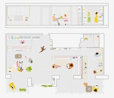 As Ikea works on bringing movable walls to the masses, a recent project completed by Spanish design firm PKMN Architectures offers a good look at how a super flexible apartment might actually work. Spanish Apartment, Micro Apartment, Apartment Plans, Little Big House, Tiny House, Movable Walls, Sliding Wall, Spanish Design, Layout