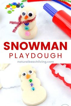 Snow Playdough Recipe Snowman Playdough Kit, This Snow Playdough recipe is such a fun winter playdough activity for kids. Winter Activities For Toddlers, Craft Activities For Kids, Preschool Winter, Preschool Themes, Learning Activities, Best Playdough Recipe, Homemade Playdough, Craft Kits For Kids, Crafts For Kids