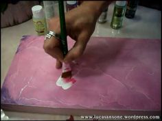 One Stroke Painting - Luca Sansone - ANTIQUE PEONY - YouTube