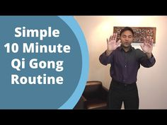 Simple Qigong Routine - Easy Home 10 Minute Practice for balancing Qi with Jeffrey Chand Qi Gong, Tai Chi Moves, Learn Tai Chi, Tai Chi Exercise, Tai Chi Qigong, Chinese Medicine, How To Increase Energy, Easy Workouts, Yoga Meditation