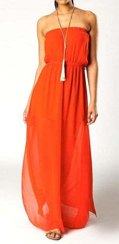 Orange Crush Bandeau Maxi Dress, My daughter and I have this it's so cute!