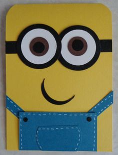 Items similar to Handmade despicable me punch art minion card on Etsy Boy Cards, Kids Cards, Cute Cards, Birthday Cards For Boys, Happy Birthday Cards, Minion Birthday, Minion Valentine, Valentines, Minion Card