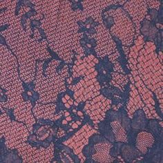 Maroon Red & Black Faux Lace Cotton Lycra Jersey Knit Fabric