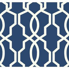 "York Wallcoverings Ashford Geometrics Hourglass 27' x 27"" Trellis Wallpaper | Wayfair"