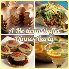 A Mexican Buffet Dinner Party - not just recipes, but helpful suggestions on preparing ahead and other useful tips on preparing for a large party with minimum stress. | The Yummy Life