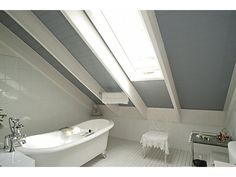 Grey ceiling in the bathroom