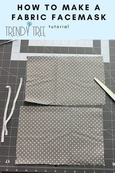 How to Make a Fabric Face Mask with Elastic, String Ties or Shoestring Ties – … Small Sewing Projects, Sewing Projects For Beginners, Sewing Tutorials, Sewing Tips, Sewing Hacks, Easy Face Masks, Diy Face Mask, Homemade Face Masks, Sewing Patterns Free