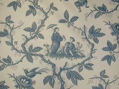 Colefax & Fowler Chinese Toile Cotton Curtain Fabric - The Millshop Online