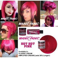 New Hair Rainbow Highlights Manic Panic Ideas Cabello Manic Panic, Manic Panic Hair Dye, Red Hair Day, Flame Hair, Hair Product Organization, Hot Pink Hair, Dyed Red Hair, Hair Color Blue, Colored Hair