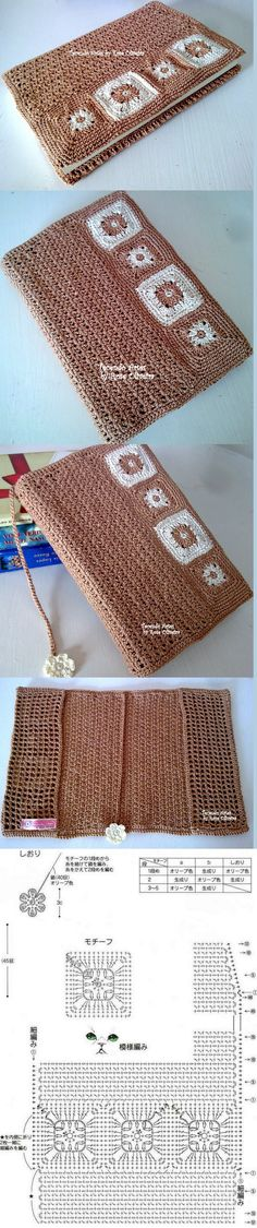 Tecendo Artes em Crochet: Capas para agendas e Cadernos Mais Crochet Book Cover, Crochet Books, Crochet Home, Crochet Gifts, Crochet Baby, Knit Crochet, Crochet Motifs, Crochet Diagram, Crochet Squares