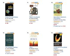 Always great to see my book, the independently released Statue in the Square, back in the book charts ...especially next to the likes of Deepak Chopra, Celestine Prophecy, Margaret Atwood, and Esther Hicks....all bestselling books/authors. Do check Statue out  - the USA/UK reviews speak for themselves..