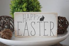 Check out this item in my Etsy shop https://www.etsy.com/ca/listing/594832889/easter-sign-happy-easter-quote-block