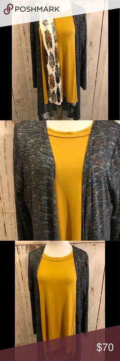 NWT Honey and Lace Torrance, Glendora & Leggings Glendora and Torrance Tee are XL leggings are Curvy. Very soft and silky material too. New Releases. Hard to find Mustard yellow color Honey and Lace Sweaters Cardigans