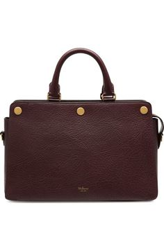 MULBERRY 'Chester' Textured Goatskin Leather Satchel. #mulberry #bags #shoulder bags #hand bags #leather #satchel #lining #