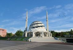 Marmara University Theology Faculty Mosque designed by Hassa Architecture House Architecture Styles, Mosque Architecture, Studios Architecture, Contemporary Architecture, Amazing Architecture, Architecture Design, Villa Design, Modern House Design, Modern Houses