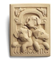 Welcome Puppies Plaque - Carruth Studio