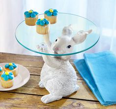 Easter Bunny Serving Table Plate