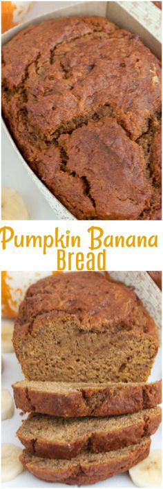 This Pumpkin Banana Bread is a moist tasty pumpkin bread with a twist. Perfect for your bread at holiday dinner or for breakfast!
