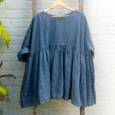 Oversized Baby Doll Dress Fits Small to Extra Large by MegbyDesign