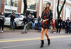 Street Style: Milan Fashion Week Fall 2014 - Joan Smalls