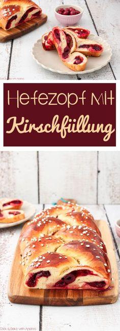 Wir persönlich lieben ja Hefeteig in allen Variationen, aber dieser Hefezopf mit Kirschfüllung ist mein absoluter Favorit. #hefezopf #hefeteig #ostern #osterzopf #ostergebäck #gebäck #zopf #fruchtig #geflochten #fruchtfüllung #kirschfüllung #füllung #hagelzucker #kuchen #torte #rezept #blog #candbwithandrea #foodblog #süß #dessert #kaffee #tee #sonntag