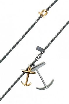 anchor cluster necklace