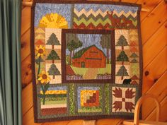 Quilted Wall Hanging.  Completed June 2015.  This is my barn.