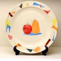 竹村良訓さん作 フルーツが描かれたうつわ ポップで可愛らしいのでトーストとフルーツのワンプレートとして朝食に使いたいですね(ω) 竹村良訓陶展明日までです ご来店お待ちしております #織部 #織部下北沢店 #陶器 #器 #ceramics #pottery #clay #craft #handmade #oribe #tableware #porcelain
