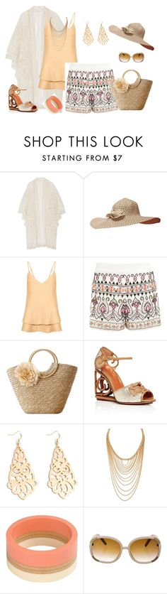 """""""outfit 3749"""" by natalyag ❤ liked on Polyvore featuring Anna Sui, C/MEO COLLECTIVE, Miss Selfridge, Charlotte Olympia, Forever 21, Marni and Chloé"""