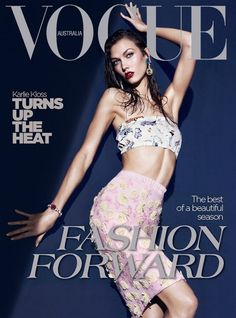 Karlie Kloss by Kai Z Feng for Vogue Australia March 2012 Cover