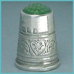 Antique silver thimble c1900