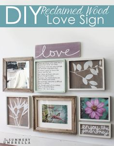 Learn how to create your very own DIY Reclaimed Wood Love Sign with this FREE stencil!