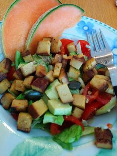 Avocado-Tofu-Salat