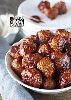 Barbecue Chicken Meatballs recipe at www.livelaughrowe.com