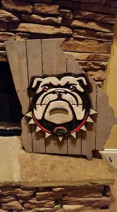 State of Georgia sign with Georgia Bulldog Face by BentwoodCustoms
