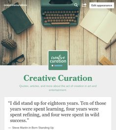 Quotes, articles, and more about the act of creation in art and entertainment. #creation #art