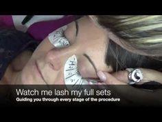 LASH MAPPING- Eyelash Extensions Tutorial - YouTube