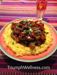 Seitan Shawarma and Spiced Mashed Potatoes #veganmofo