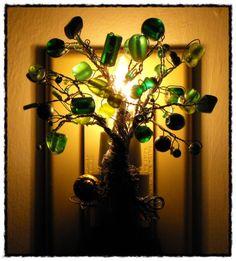 DIY dollar store beaded tree night light....cute!