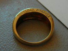 Wedding Ring Engraving // Together Forever