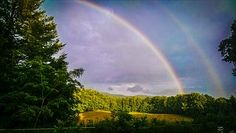 Double, Rainbow, Sky, Nature, Rain