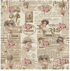 Damas Newspaper Damas 2.   #paper #papel #scrap